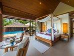 Baan Puri - Lotus Beachfront Suite view to the pool