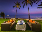 Baan Puri - Beachfront dining night setting