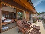 Baan Puri - Ocean view suite balcony