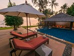 Baan Puri - Pool bar and sala for your relaxation