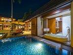 Baan Puri - Poolside suite sunken terrazzo bathtub