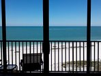 Yes, we're 'right on the beach'.  This is your view from the living room.