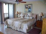 exquisite master suite w/ balcony; king bed; walk-in-closet; full bath