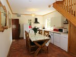 Old quarry tile floor give character and warmth with under floor heating