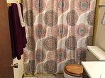 Bathroom with a shower/bath tub