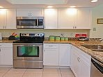All new kitchen cabinets, granite countertops and stainless appliances.