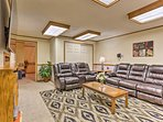 The downstairs family room is sure to be a favorite hangout spot.