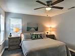 Sleep 2 in this elegant master bedroom with nautical decor and a king-sized bed.
