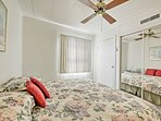 Perfect for couples, this room has a queen bed.