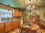 You'll find ample storage and counter space in the well-equipped kitchenette.