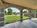 Gaze out at this charming Northwest OKC neighborhood.