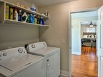 Keep your clothes clean with the washer and dryer.