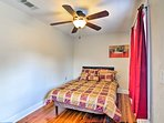 The fourth bedroom offers a full bed.