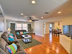 Spread out across 2,000 square feet of living space.
