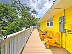 Relax on the deck and get some sun!