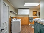 Pack lightly and utilize the in-unit laundry machines during your stay.