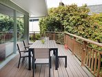 Grill out on the deck and dine at the 6-person table overlooking the lush yard.