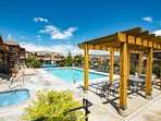 Heated Outdoor Pool and Hot Tub fun for everyone