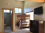 4th floor master- bedroom 4, king w/ bunk beds