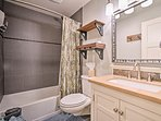 Freshen up with a cleansing shower in one of the 2 full bathrooms.