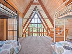 Guests who sleep in these cozy bunk beds will be treated to spectacular views.