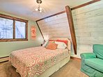 The second bedroom features a queen bed for 2.