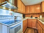 This kitchen has all of the modern essentials of home!