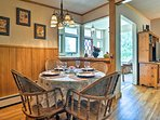 Savor home-cooked meals at this table for 4.