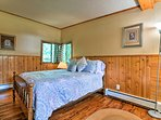 Crawl under the covers of this sumptuous full bed.