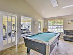 Pool sharks can show off their skills at the Billiards table!