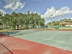 Play a friendly game of tennis on the courts!