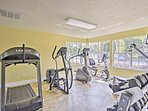 Keep up your fitness in the work out room!