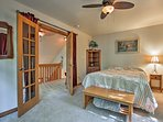 Head upstairs to settle in one of the 4 bedrooms.