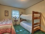 The bunk room is the perfect adobe for kids in the group.