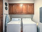 Easily keep your clothes clean with the in-unit laundry machines.