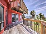 The 3-bedroom, 3-bathroom home boasts 2 decks and ocean views.