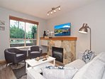 Fully remodeled unit with new plank floors, all new furniture, 50' wall mounted TV and View of Blackcomb mountain