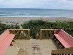 2lvl, ocean front dune deck (off bedrooms)