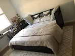 King size bed for 2 guests