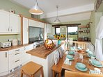 Spacious kitchen with all round views and central island