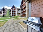 Walk-out patio with gas BBQ