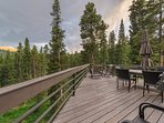 There's plenty of space on the deck for your whole group to take in the gorgeous views.
