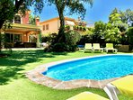 Tropical garden (400 m2) with heated pool 3x6