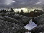 Les cupules - Rocher Combeau à Châteldon