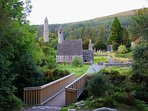 Glendalough. Sixth Century Monastic Settlement.Visit also the Upper Lake and The Wicklow Way.