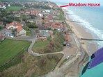 Meadow House on the beach walkway