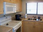 fully outfitted updated kitchen