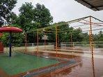 Rain Dance along pool side