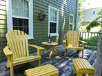 Sit and relax on the back deck at Shorewood House
