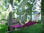 Relax in the hammock in the back garden at Shorewood House